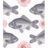 Mind The Gap Wallpaper  - Fish - Neutral